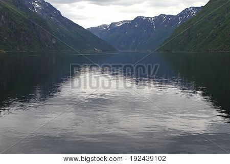 Natural landscape of Norway Scandinavia Northern Europe poster