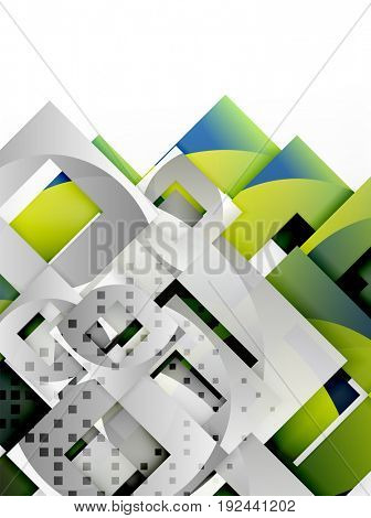 square template background design