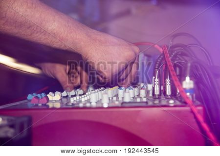 The tuner adjusts in the music console