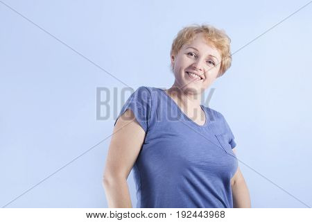 Middle Aged Smiley Woman