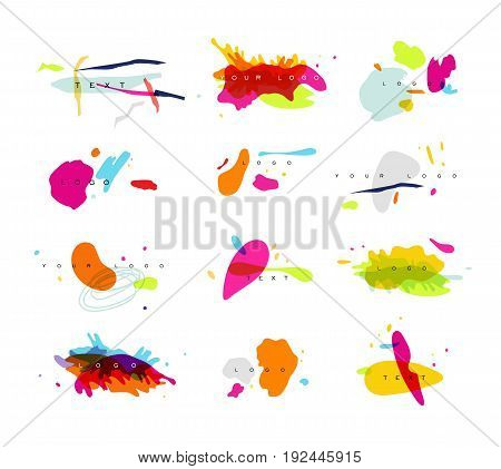 Design symbols drawing in vivid stylish abstract art on white background