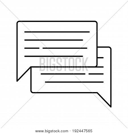 Comment icon isolated on white background. Chat symbol