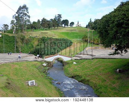 Puente de Boyaca the site of the famous Battle of Boyaca where the army of Simon Bolivar with the help of the British Legion secured the independence of Colombia