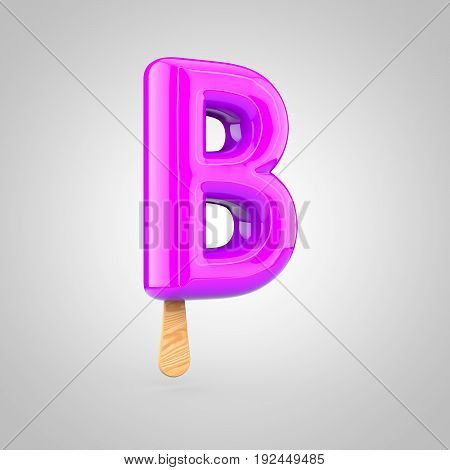 Ice Cream Letter B Uppercase Isolated On White Background
