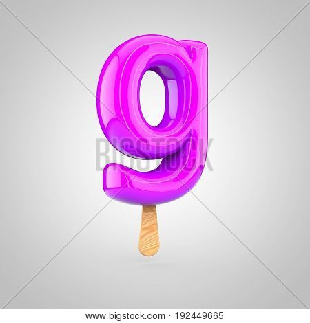 Ice Cream Letter G Lowercase Isolated On White Background