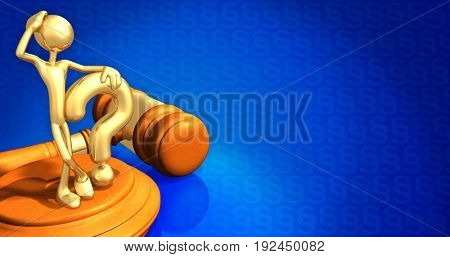 Question Law Concept With The Original 3D Character Illustration