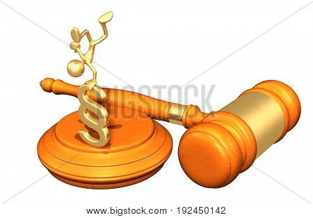 Law Concept The Original 3D Character Illustration With A Section Symbol