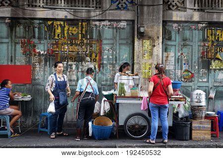 Street Frood On Yaowarat Road, Chinatown Bangkok