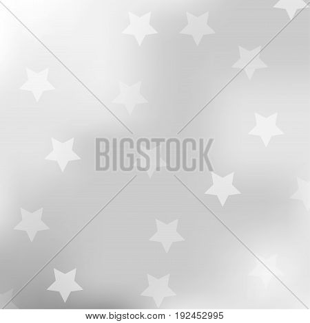 Abstract gray background with star. Vector illustration