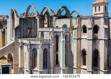 Carmo Convent In Lisbon, Portugal