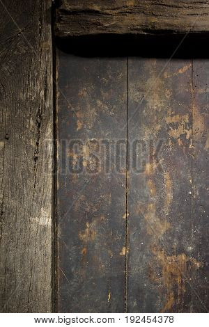 Fragment of an old wooden door as a background