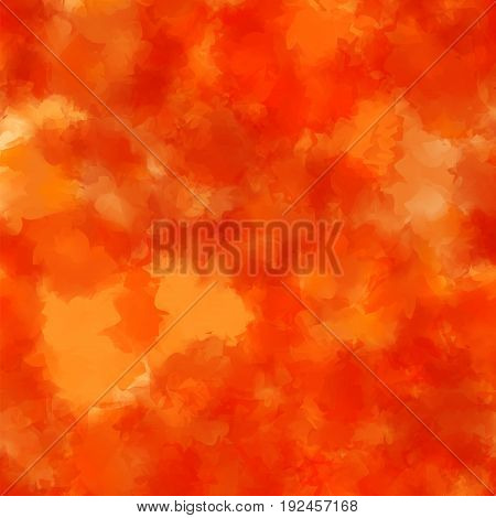 Orange Watercolor Texture Background. Charming Abstract Orange Watercolor Texture Pattern. Expressiv
