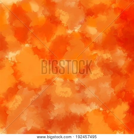 Orange Watercolor Texture Background. Unique Abstract Orange Watercolor Texture Pattern. Expressive