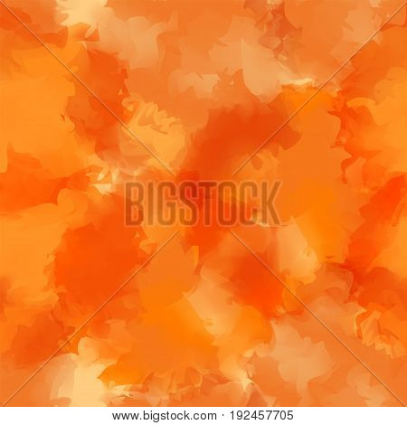 Orange Watercolor Texture Background. Great Abstract Orange Watercolor Texture Pattern. Expressive M