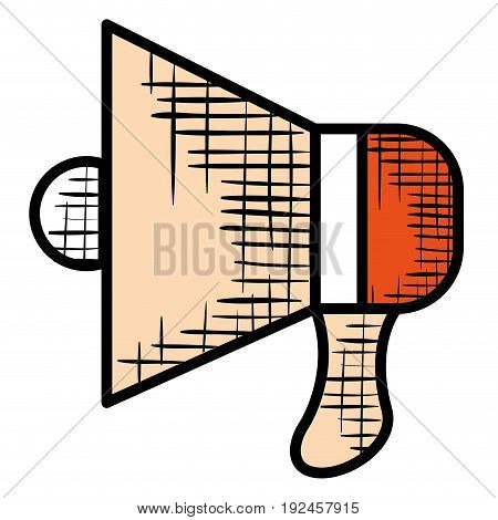 megaphone sound isolated icon vector illustration design graphic