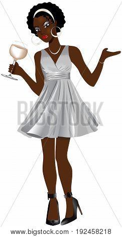 Blackwomansilverdress