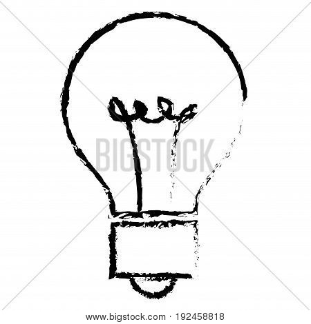 bulb light isolated icon vector illustration design draw