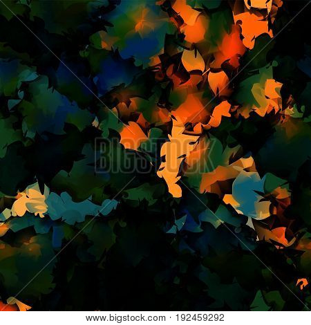 Orange Green Blue Watercolor Texture Background. Marvelous Abstract Orange Green Blue Watercolor Tex