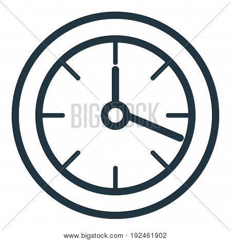 wall clock object icon vector illustration design graphic
