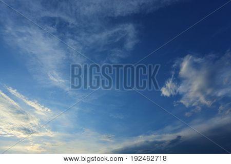 Cloud Above Clear Blue Sky
