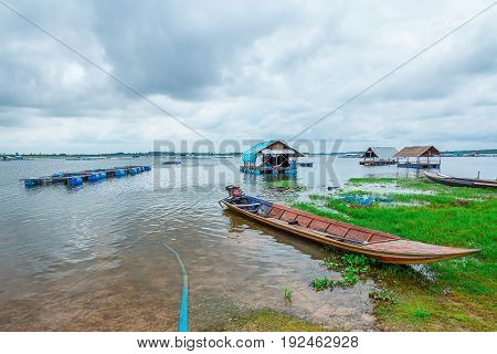 Fishing boat on a river in Thailand