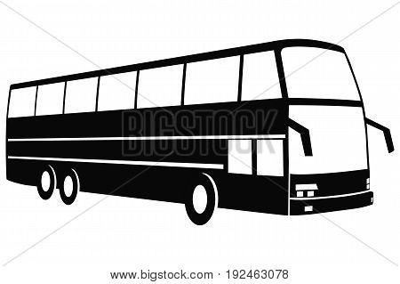 Vector illustration of a modern travel bus.