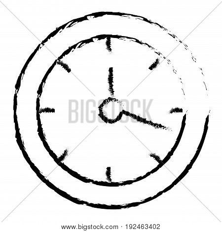 wall clock object icon vector illustration design doodle