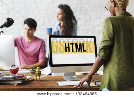 HTML Website Design Coding Program Content Graphic Word