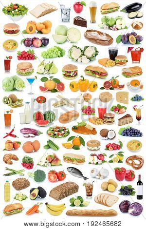 Food And Drink Collection Healthy Eating Fruits Vegetables Fruit Drinks Isolated