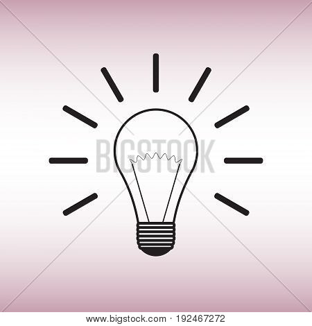 Lightbulb flat vector icon. Lightbulb isolated vector sign.