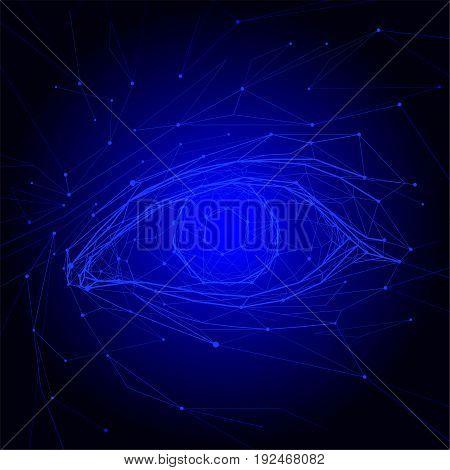 Eye web icon. Silhouette eye. Eye isolated on background