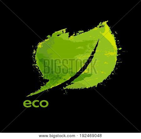 Green eco friendly background abstract leaf. Eco illustration.