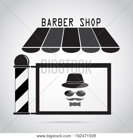 Barber shop Hair salon with barber pole icon