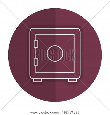Safe important items icon vector illustration design shadow