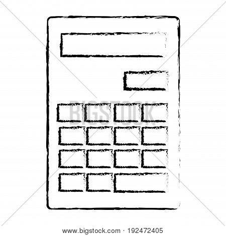 Mathematical element calculator icon vector illustration design draw