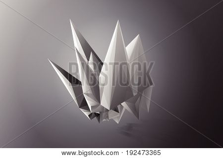 Abstract Facets white gray black vector, black