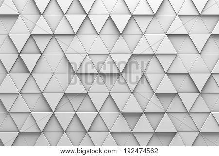 Triangular Tiles 3D Pattern Wall