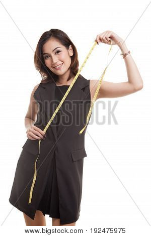 Young Asian Woman With Measuring Tape.