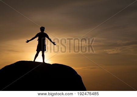 A Man On The Rock