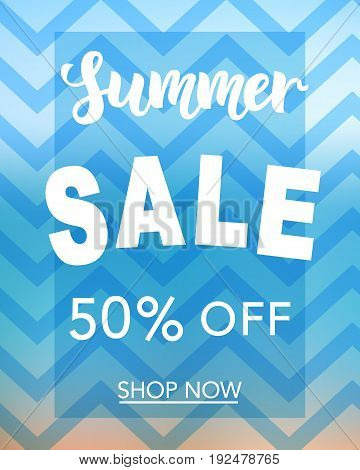 Summer Sale banner template for online shopping, network. Vector Illustration