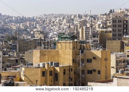 Typical arabic city architecture in Amman. Jordan