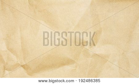 Recycled crumpled brown paper texture, paper background for business, education and communication concept design.