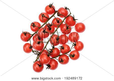Red Cherry Tomatoes Isolated On White Background