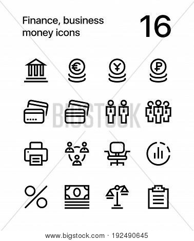 Finance, business, money icons for web and mobile design pack