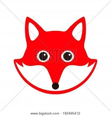Cute cartoon fox face - photo#52