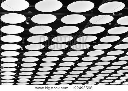London, UK, June, 2017. The Ceiling of London Heathrow Airport T4 Departure, UK.