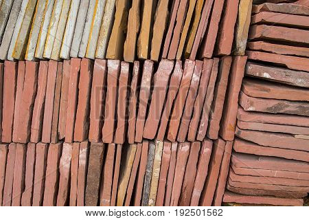 Brick block paving stone Floor texture. square shape Pavement patio design