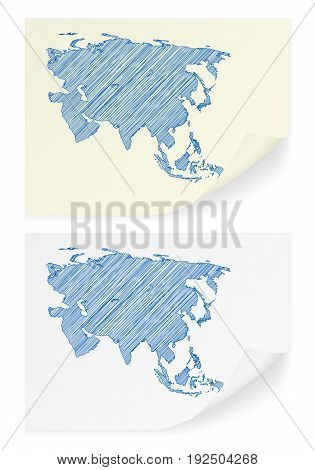 Asia Scribble Map