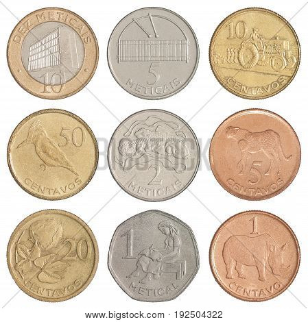 Set Of Mozambican Coins