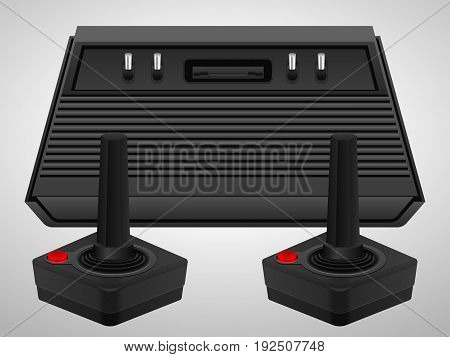 Retro Console And Joysticks